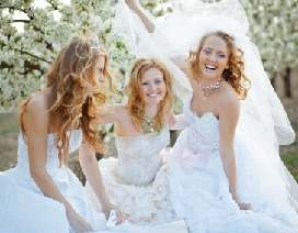 beautiful wedding day brides
